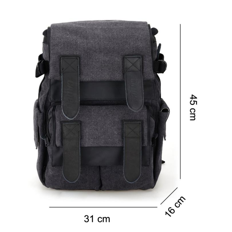 Caden M5 Canvas Camera Bag Backpack for Canon Nikon Sony DSLR Digital Camera Tablet PC caden m5 camera bag backpack waterproof canvas gray photo video carry case digital camera case for dslr canon nikon