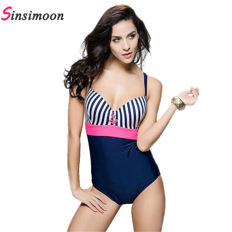 New Sexy Backless High Waist halter One Piece Swimsuit Swimwear Hot Sale Striped Swimsuit Sling Bodysuit Women monokini 11058 one piece swimsuits trikinis high cut thong swimsuit sexy strappy monokini swim suits high quality denim women s sports swimwear
