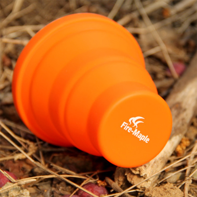 Camping Silicon Folding Mug Portable Outdoor Camping Tableware Cup Bottle Fire Maple FMP-319 200ml 44g Free Shipping