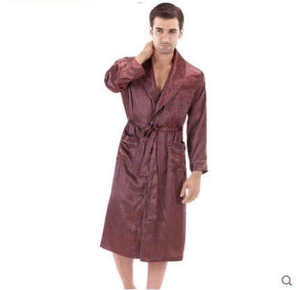 Men Sexy Bathrobe Man Kimono Robes peignoir homme yukata Men kimonos satin Robe mens pajamas Gay Nightgowns Free Shipping