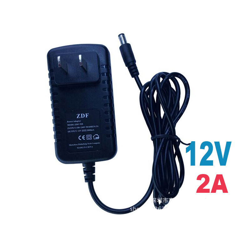 US Type Adapter DC 12V 2A CCTV Security Camera Power Supply USPlug Power Adapter apllication ip camera and Analog Camera 12v 5a 8ch power supply adapter work for cctv suveillance camera system dc 12v power supply 8 port dc pigtail coat