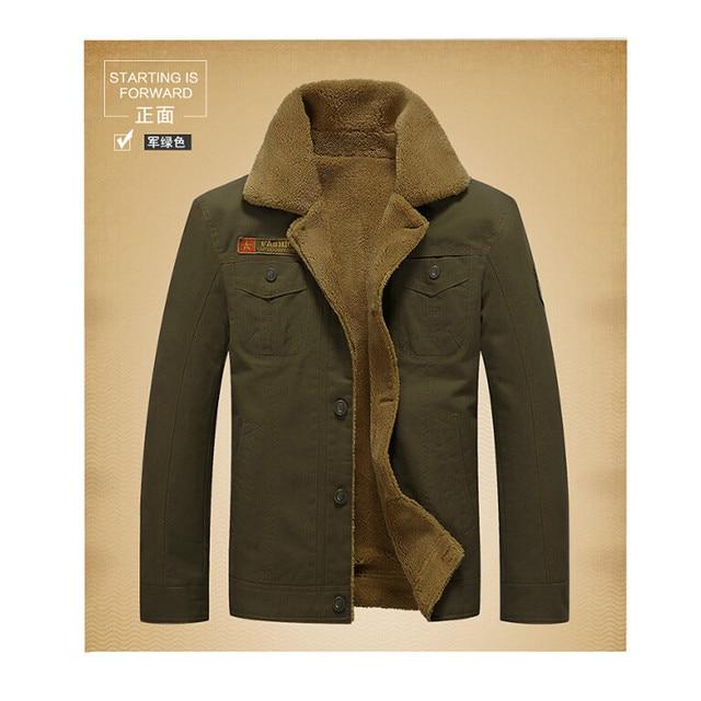 2251597f723a Jaqueta de inverno dos homens casual de algodão tamanho grande casacos de  colarinho de abertura de