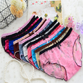 2017 new multi-color full lace ladies underwear roses transparent net yarn stretch briefs sexy charm fashion shorts