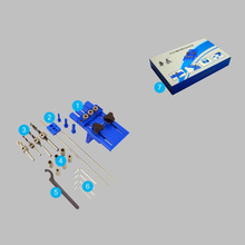 все цены на DIY Woodworking Joinery High Precision Dowel Jigs Kit,3 in 1 Drilling locator drilling guide kit Woodworking tool KF1007 онлайн