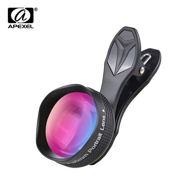 Apexel 85 мм портретный объектив 3X HD телеобъектив профессиональный мобильный телефон Объективы для фотоаппаратов для Iphone, Samsung Android-смартфон