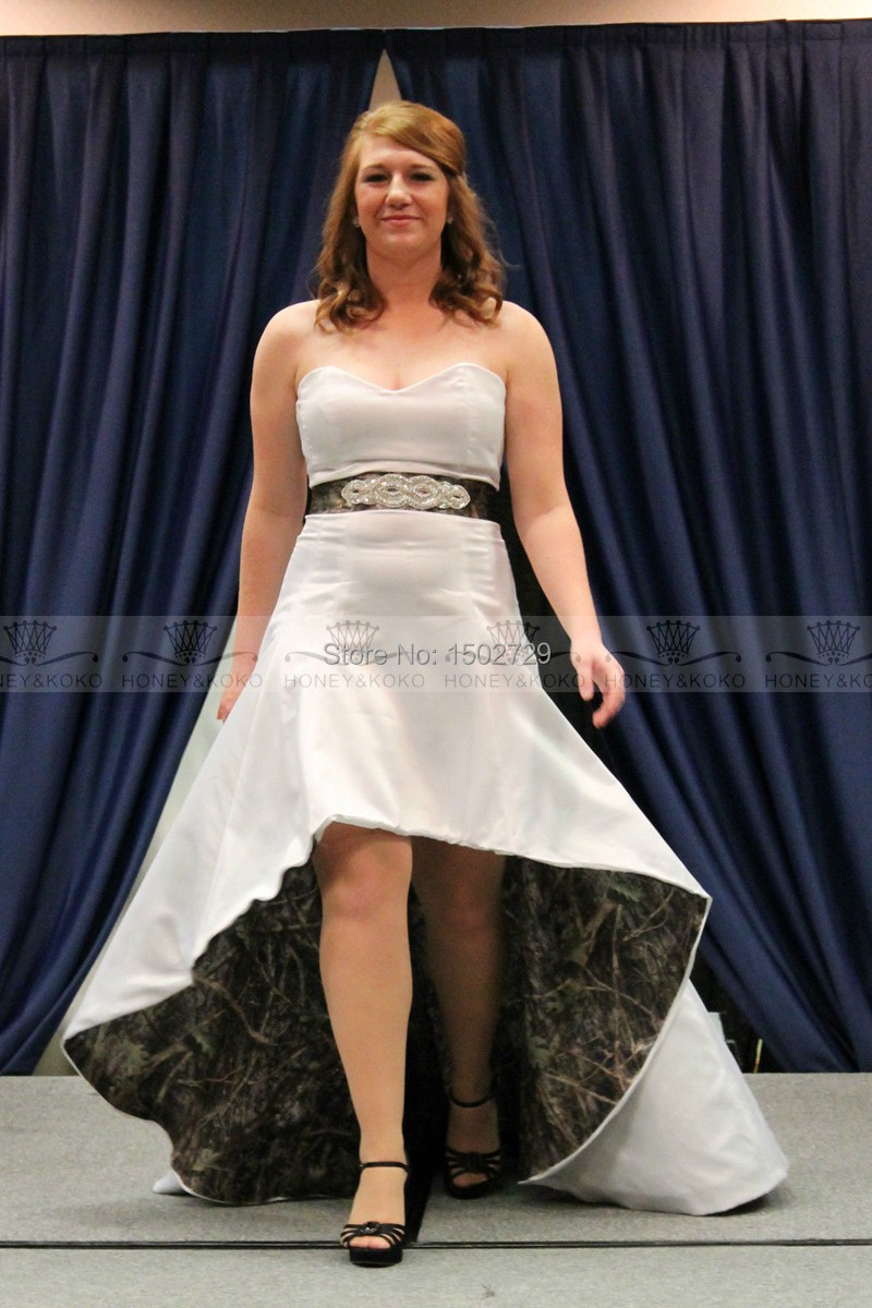 Aimee 74 wedding gown white camo wedding dress white and camouflage wedding dresses