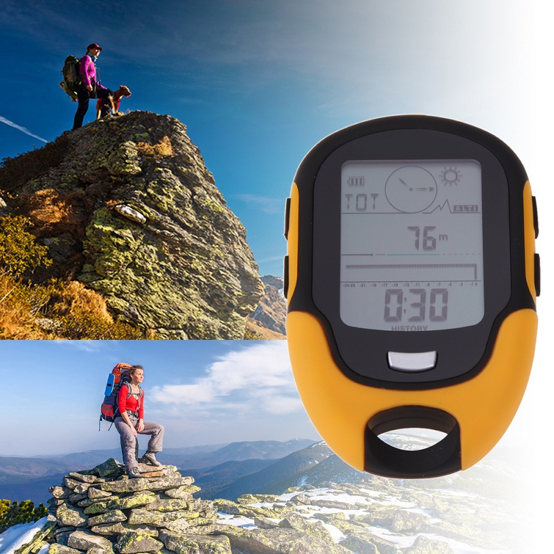 Portable Waterproof Outdoor Camping Altimeter FR500 Multifunction Running Swimming LCD Digital Altimeter Barometer Compass Tool