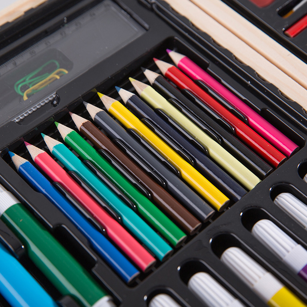 Image 3 - Children Gift Pencils Crayon Stationery Office Sketching Storage Case Painting Brush Student Art Set Watercolor Pen For Drawing-in Art Sets from Office & School Supplies