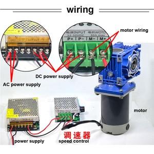 60 Вт 0,1 ОБ/мин до 1,5 об/мин RV40 DC червячный редуктор Мотор 12В 24В DC Ver 2-ступенчатый мотор-редуктор NMRV40 само-редуктор ing Lock CW CCW