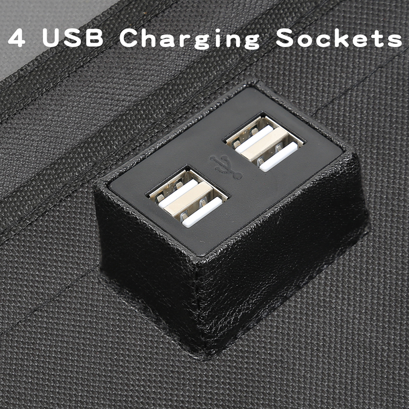 Image 5 - LCAV Car Seat Back Organizer bag with 4 USB charger cable-in Stowing Tidying from Automobiles & Motorcycles