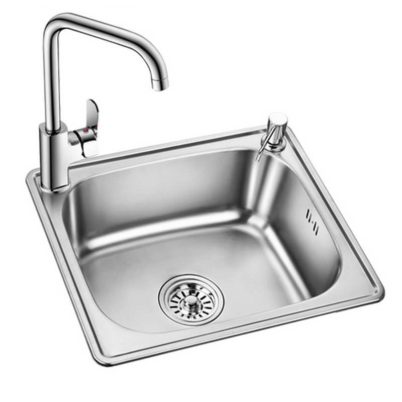 Kitchen sink vegetables basin 304 stainless steel sink small slot ...