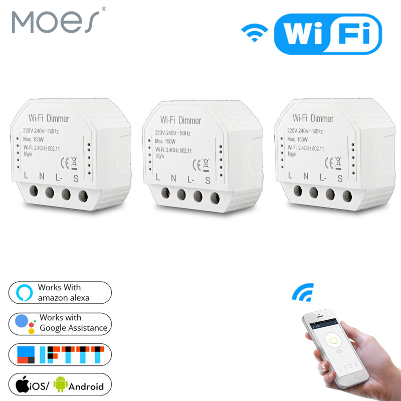 DIY Smart WiFi Light LED Dimmer Switch Smart Life Tuya APP Remote Control 1 2 Way