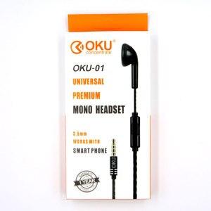 Image 5 - OKU 01 3.5 มม.หูฟังชนิดใส่ในหูเท่านั้น Mono หูฟังหูฟัง w/Mic สำหรับโทรศัพท์สำหรับ Samsung