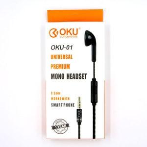 Image 5 - OKU 01 3.5mm Enkele In Ear Alleen Mono Oortelefoon Oordopjes Headset w/Mic Voor Telefoon voor Samsung