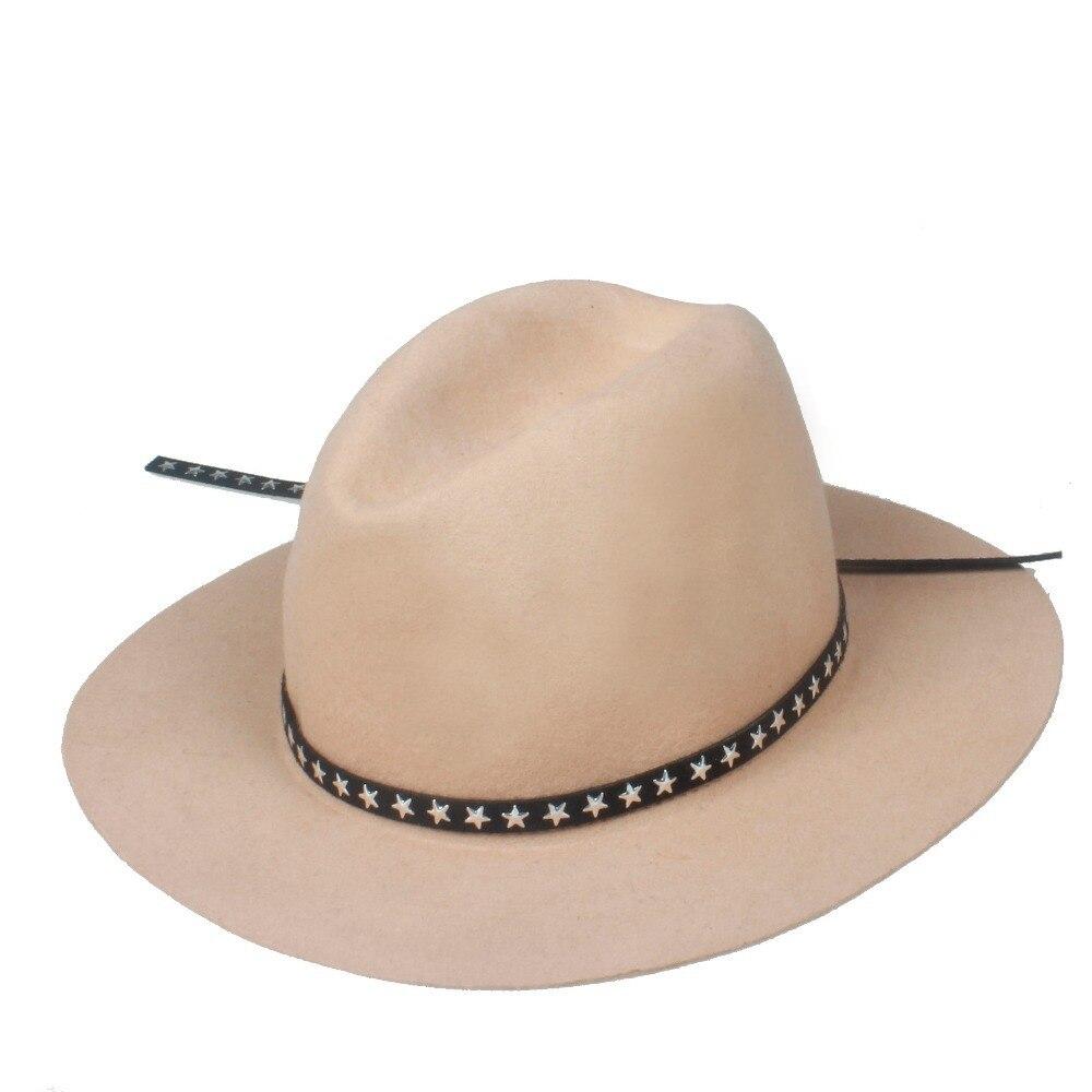 6 unids lote nueva moda mujeres hombres 100% lana Fedora sombrero fieltro  Panamá mujer elegante señoras sombrero Floppy Derby Trilby gorra al por  mayor en ... ea9f7165c9c