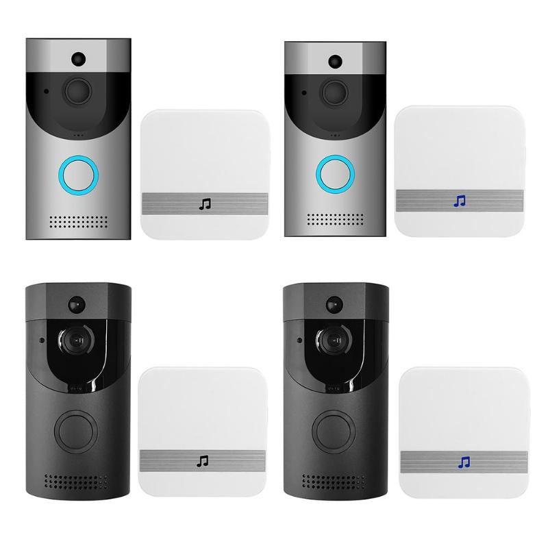 Anytek B30 Sans Fil WiFi Interphone Vidéo Sonnette + B10 Sonnette Récepteur Ensemble Porte Cloche Caméra Wifi Vidéo Nuit Vision