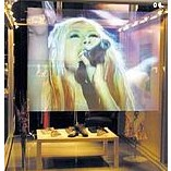 1.524m*0.6m Self adhesive holographic screen film,best holographic rear projection screen foil for display advertising 24 dark gray gray white holographic rear projection screen transparent rear projector film indoor hologram advertising