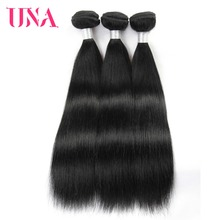 UNA HUMAN HAIR Peruvian Straight Hair 3 Bundles Deal 100% Human Hair Bundles Non-Remy Human Hair Extension Color #1 #1B #2 #4 недорго, оригинальная цена