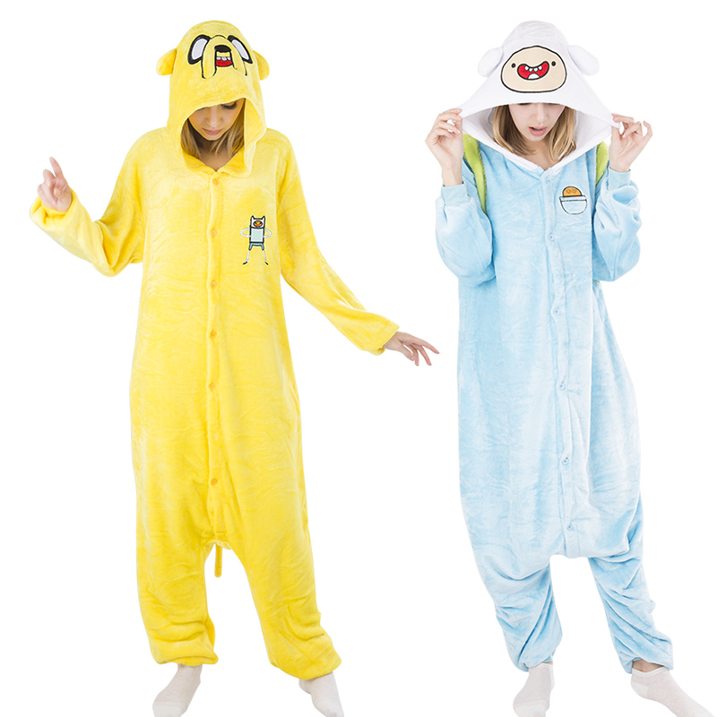 2016 Winter Pijama Sleepwear Hot Cartoon Adventure Time with Finn and Jake Cosplay Costumes Cute Lovely