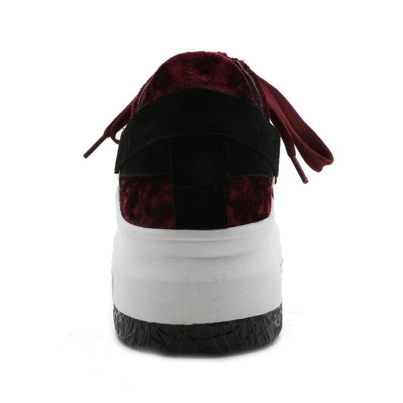 Solide Lacets Black Doux Sécurité red Mujer Appartements Plat À Couleur forme 4 Daitifen Troupeau Chaussures De Taille Femmes Air blue Filles Plate Zapatillas Plein green En Grande 8nwYP