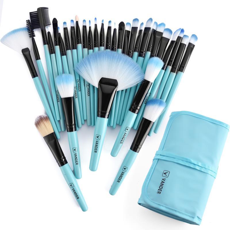 VANDER VIE 32 pcs Maquillage Brosses Prime Make Up Brush Set Synthétique Kabuki Cosmétiques Eyeliner Fondation Poudre Mélange Blush