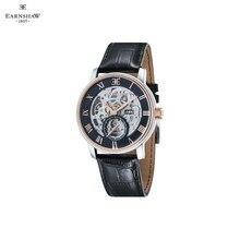 Наручные часы Earnshaw ES-8041-04 мужские механические с автоподзаводом на кожаном ремешке