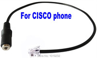 aliexpress com buy portable telephone handset amplifier shipping 3 5mm smartphone headset to only cisco phone adapter 3 5mm to rj9