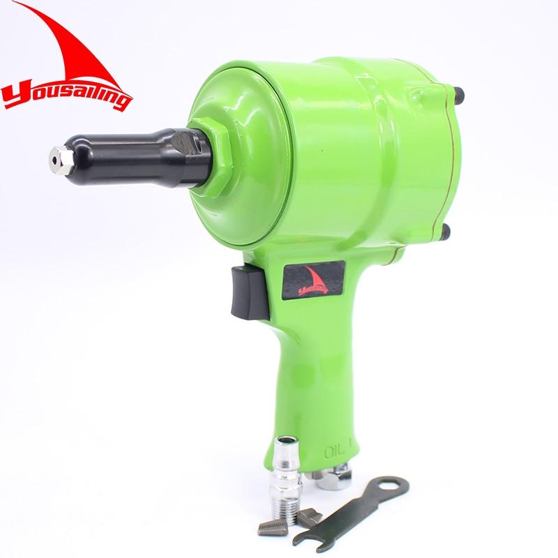 Pistola de calidad Tipo Pistola remachadora neumática Herramienta de remaches de aire Remachadora de nivel industrial Carrera de 18 mm