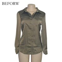 BEFORW Hot Sale Women Shirts Blouses Spring New Women Loose Solid Color Casual OL Office Style