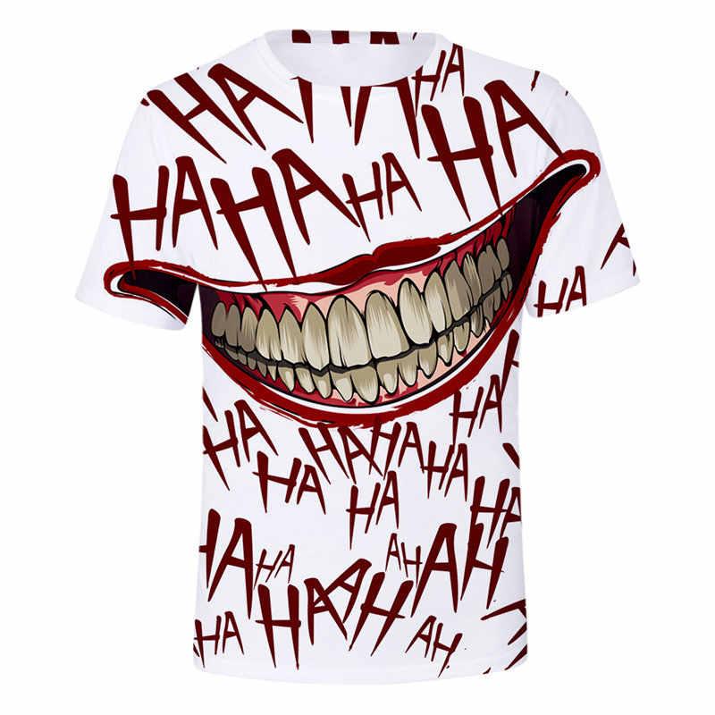 Летняя KPOP футболка haha joker 3D последний альбом Футболка мужская runningкороткий рукав CONNEOT модная футболка плюс размер