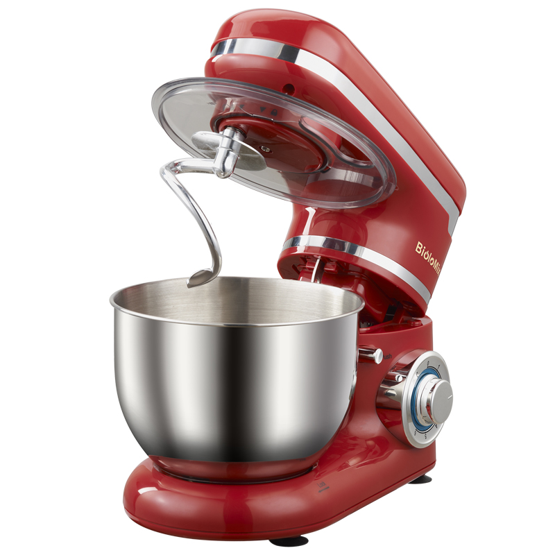 LED light 6 speed 4L Stainless Steel Bowl 1200W Powe Kitchen Food Stand Mixer Cream Egg Whisk Whip Dough Kneading Mixer in Food Mixers from Home Appliances