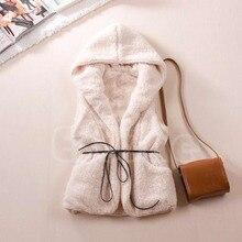 נשים הסווטשרט ארוך אפוד שרוולים מעיל פו כבש פרווה מעיל חזיית הלבשה עליונה