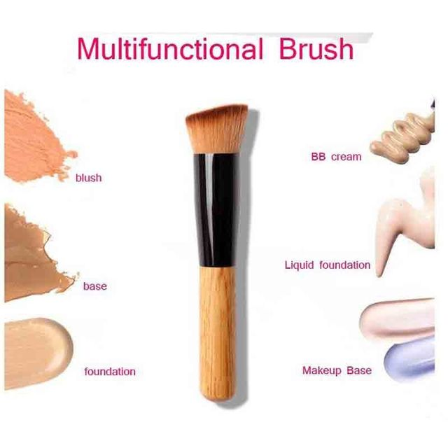 1pcs Professional Makeup Brushes Wooden Handle Multi-Function Face Powder Foundation Contour Blush Brush Cosmetic Make Up Tools Makeup Brushes