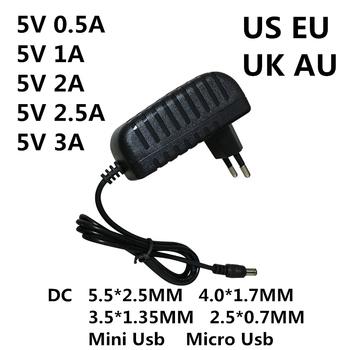 AC Adapter DC DC 5 V 0 5a 1A 2A 2 5a 3A AC 100-240V konwerter zasilacz 5 V Volt 1000MA ładowarka zasilająca Mini Micro Usb tanie i dobre opinie Lincoiah 5 5mm * 2 5mm Przełączania Podłącz LJH-186