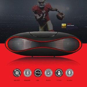 Image 1 - Yeni Çok fonksiyonlu Taşınabilir Mini Futbol kablosuz bluetooth Hoparlör Mic HIFI Süper Bas Desteği USB TF Kart Tüm Telefon Için