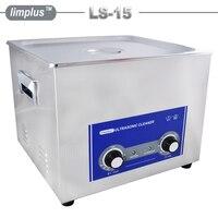 Limplus 15l промышленной ультразвуковой очистки таймера бак из нержавеющей Для ванной Тематические товары про рептилий и земноводных pcb Аппарат