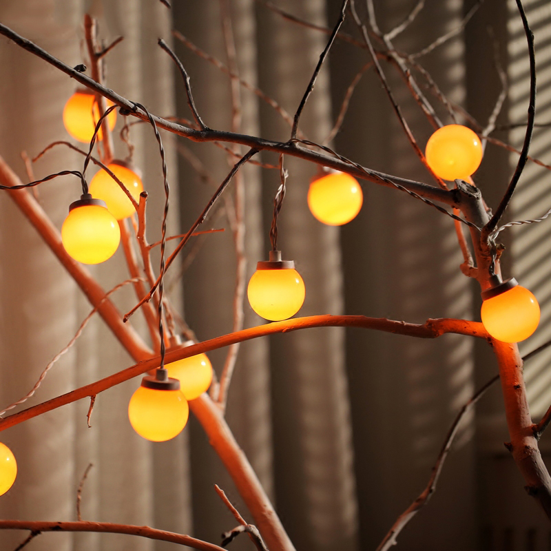 20Led Fairy Festoon Led Orange Globe Bulb Led String Lights Outdoor - Holiday Lighting