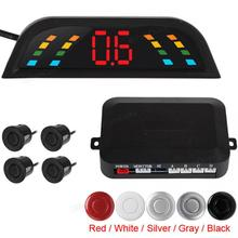 Digital LED Car Parking Assistance System with 4 Parking Sensors for Automobile Vehicle Auto free shipping dld 500 good quality traffic inductive loop vehicle detector signal control ground sensors for parking system