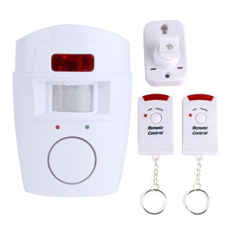 Wireless PIR Infrared Motion Sensor Alarm Detector 2pcs Remote Controllers Door Window Anti-Theft Home Security Systems qiachip 2017 brand wireless digital doorbell with pir motion sensor infrared detector induction alarm door bell button home diy