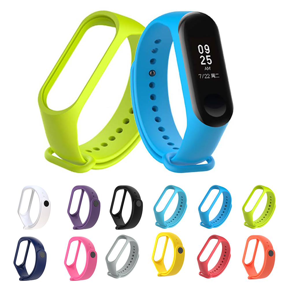 Smart Wristband Mi 3 4 Silicone Strap Wrist Band For Xiaomi 3 4 Sport Bracelet Mi Band Strap Replacement Part For Miband 3 4