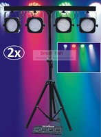 2xLot Free Ship 2018 Led Par Kit Mini 4 BAR LED RGB Par Can Stage Wash Tripod Light Lamp Stand Light System DJ Club Party Show