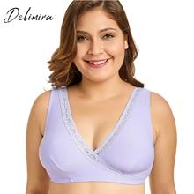 Delimira Women's Soft Cup Comfort Plus Size Sleep Maternity and Nursing Bra