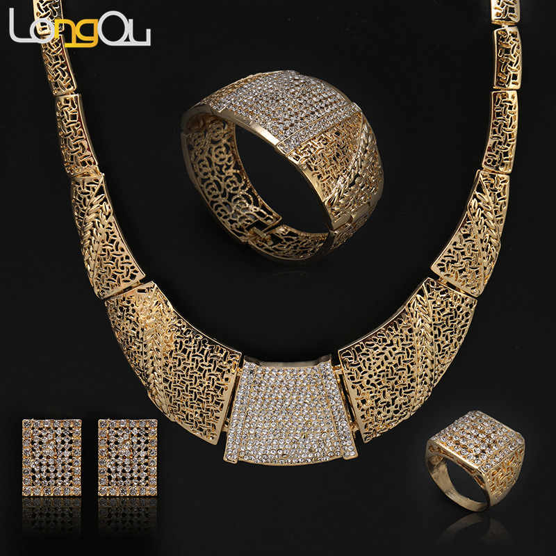 2018 New Ethiopian Jewelry Gold-color Classic Fashion Medusa Jewelry Lion Head Myth Pendant Necklace Jewelry Sets