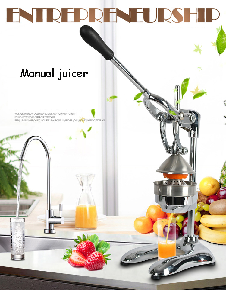 Stainless steel Manual Orange Lemon Juicer Fruit Squeezer manual juicer industrial cold press juice паровая швабра black decker fsm1630 fsm1630 qs