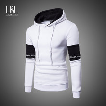 Casual Hoodies Men Fashion New Patchwork Hooded Sweatshirt Coat Mens Moletom Masculino Fashion Hoodies Slim Sportswear Tracksuit(China)