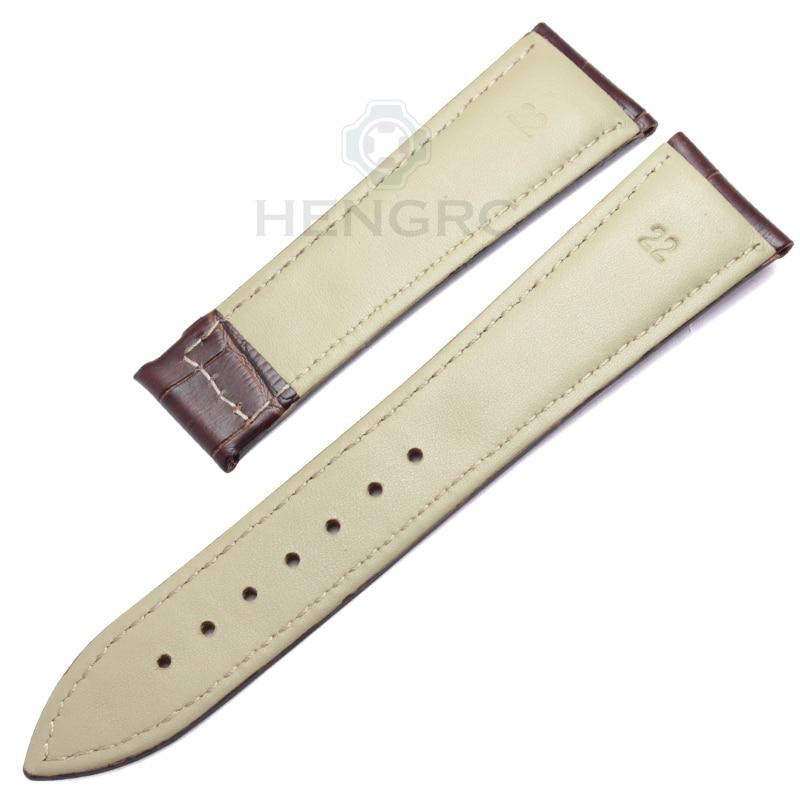Bandas de reloj HENGRC 20 mm 22 mm Correa de reloj de cuero genuino - Accesorios para relojes - foto 3