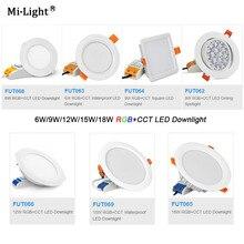Miboxer AC110V 220V 6W/9W/12W/15W/18W RGB+CCT LED Dimmable Ceiling Spotlight FUT062/FUT063/FUT066/FUT068/FUT069