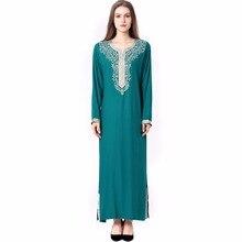 Muslim women Long sleeve Dubai Dress maxi abaya jalabiya islamic women dress