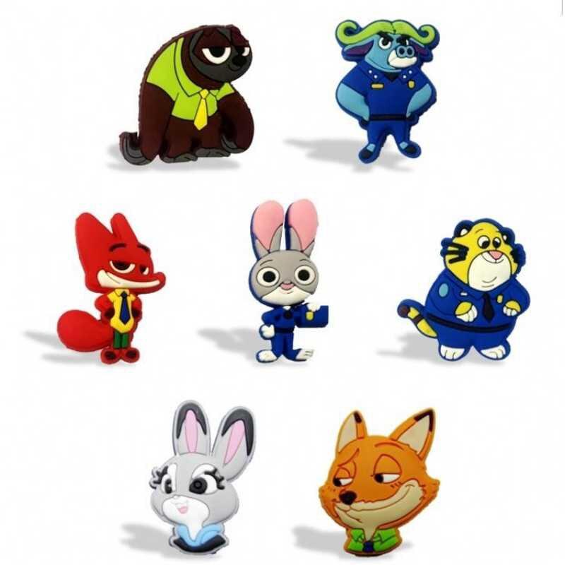 7 Stks/partij Zootopia Schoolbord Magneten Koelkast Stickers Kids Educatief Speelgoed Keuken Decor X-mas Gift Bagage Tags Helder In Kleur