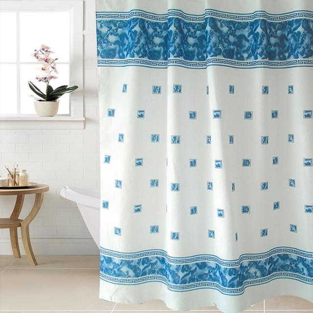 Fabric Polyester WIDEN Waterproof Shower Curtains Bathroom Shower ...